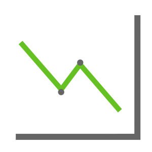 analytics line graph icon