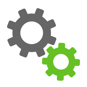 water service cogs icon
